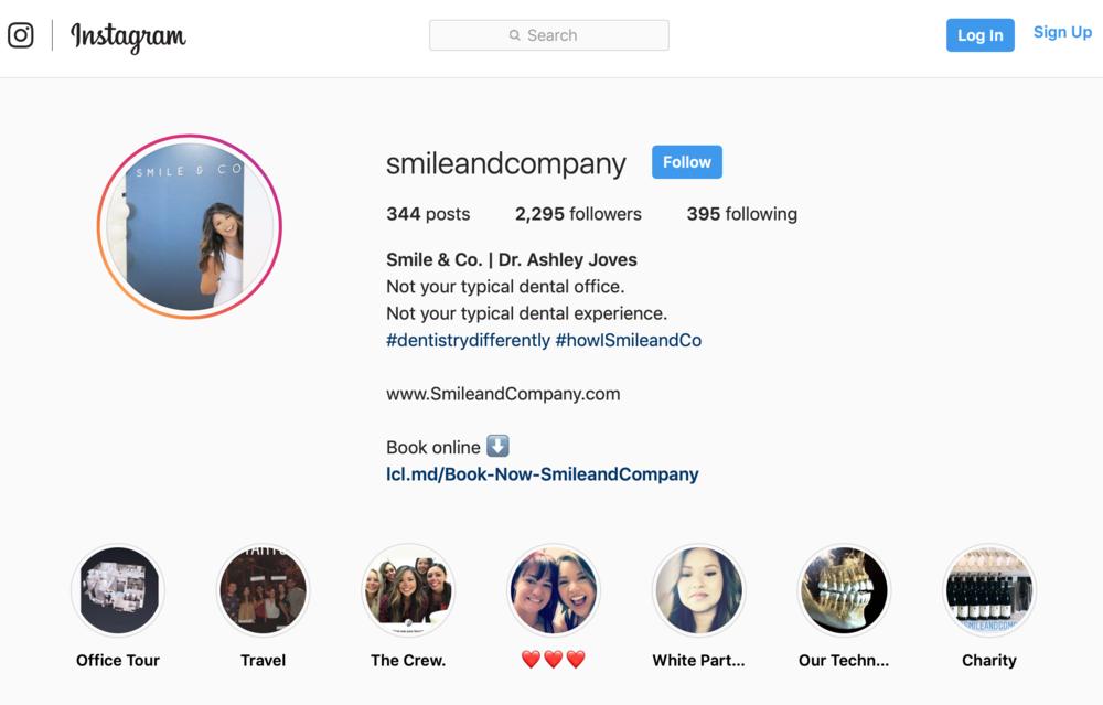 Dentist marketing ideas for social media marketing on instagram