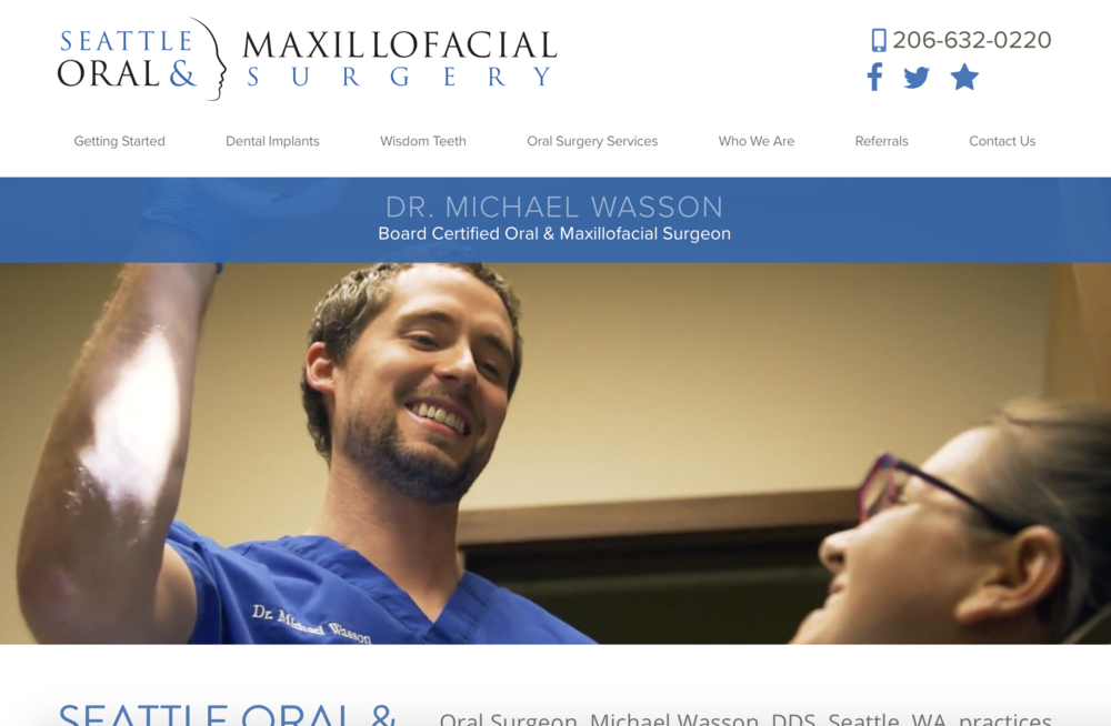 Dental Website strategy Seattle Oral and Maxillofacial Surgery
