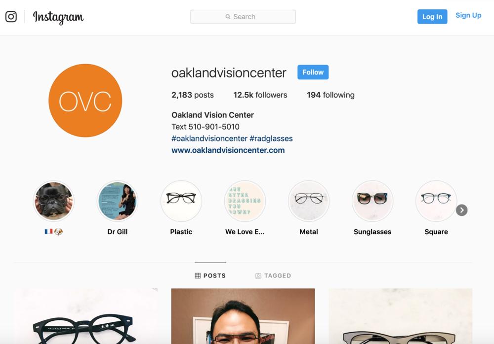 Optometrist marketing on social media for instagram