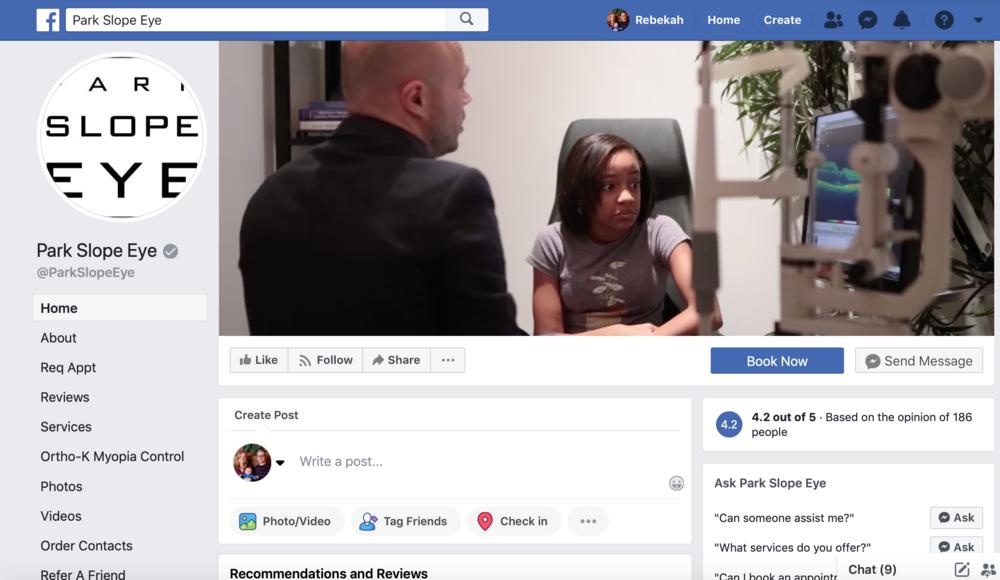 Optometrist marketing on social media for Facebook