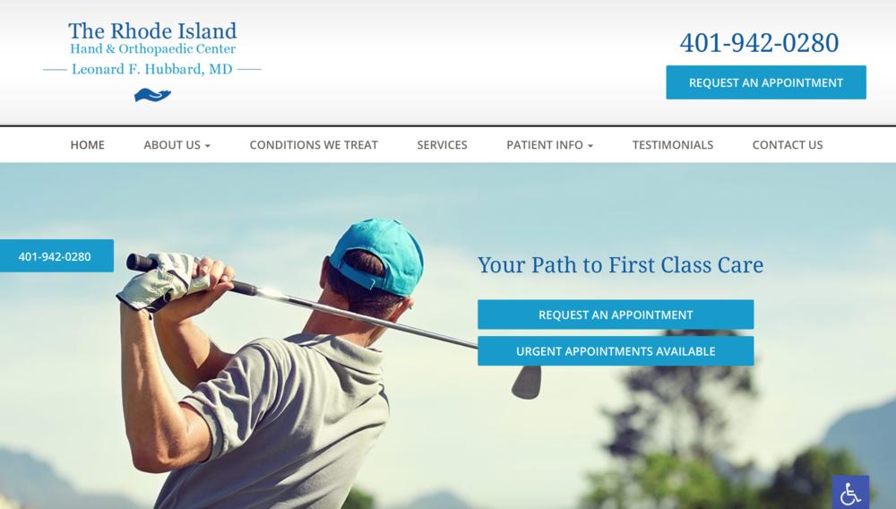 Orthopedic marketing website strategy