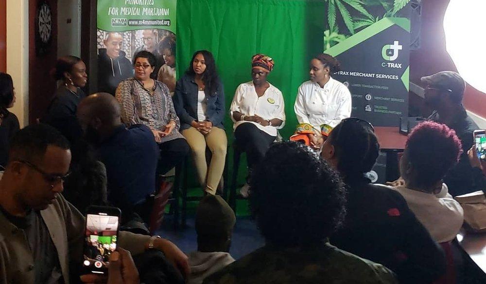 Taking part in the Female Minority in Hemp speaker panel at the Minorities for Medicinal Marijuana Breakout Forum on Entrepreneurship. 1.14.19