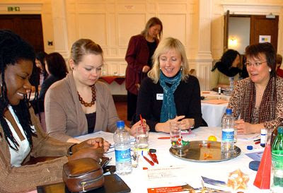 Delegates at a workshop for the University of Bedfordshire