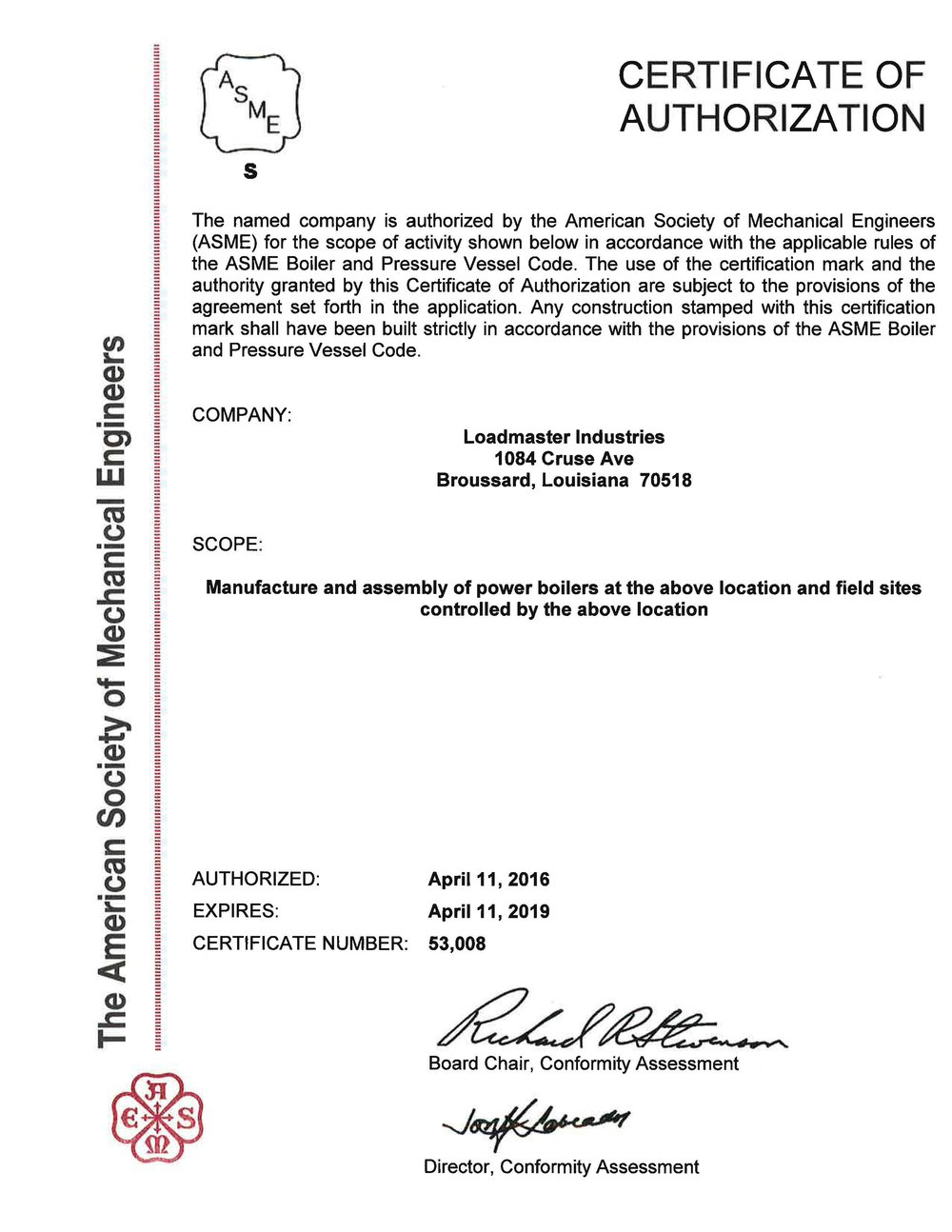 ASME Certificate of Authorization- Power Boilers.jpg