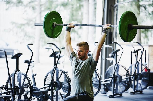 Man at Gym Lunging