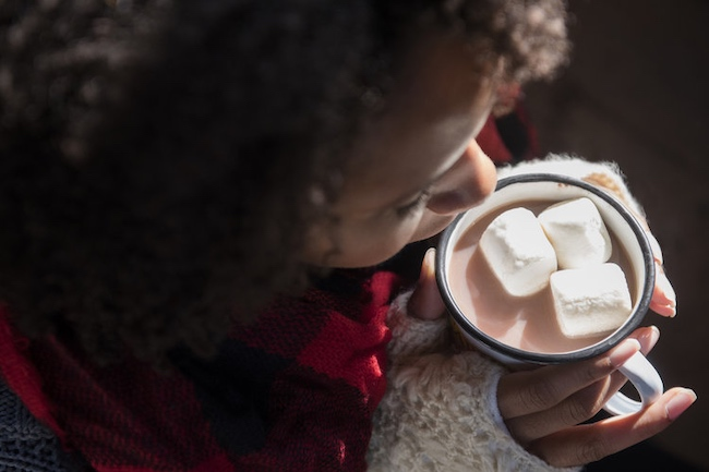 Woman Drinking Hot Chocolate