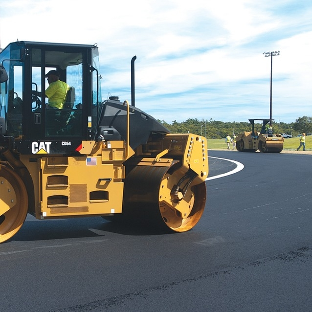 Compaction - The act of compressing a given volume of material into a smaller volume. Insufficient compaction of the asphalt pavement courses may accelerate the onset of pavement distresses of various types.