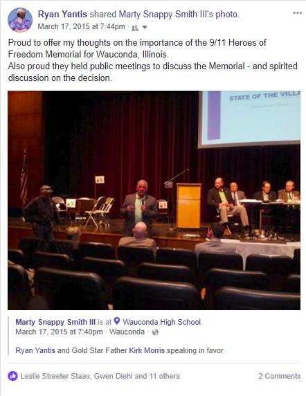 Wauconda Town Hall 911 memorial decision