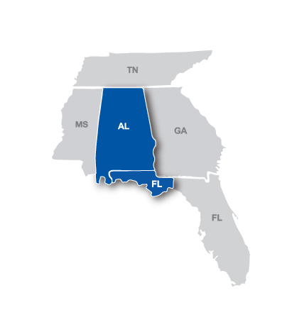 Gulf South Region Map.png