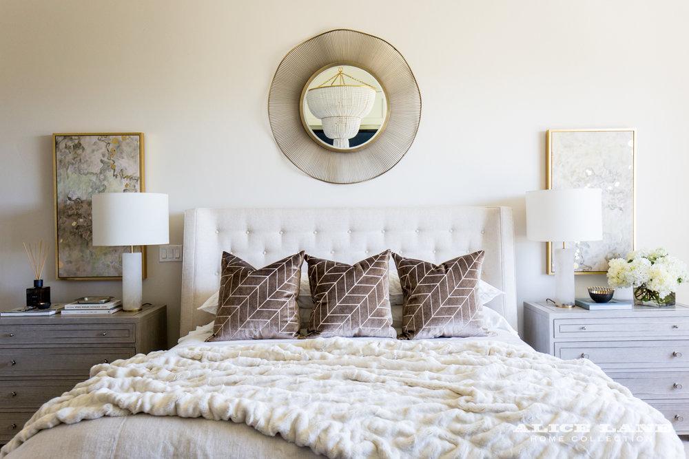 Ivory Lane Master Bedroom | Alice Lane Interior Design | Photo by Lindsay Salazar