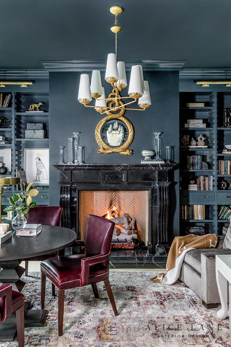 The Parcell Library | Alice Lane Interior Design | Photo by Lindsay Salazar
