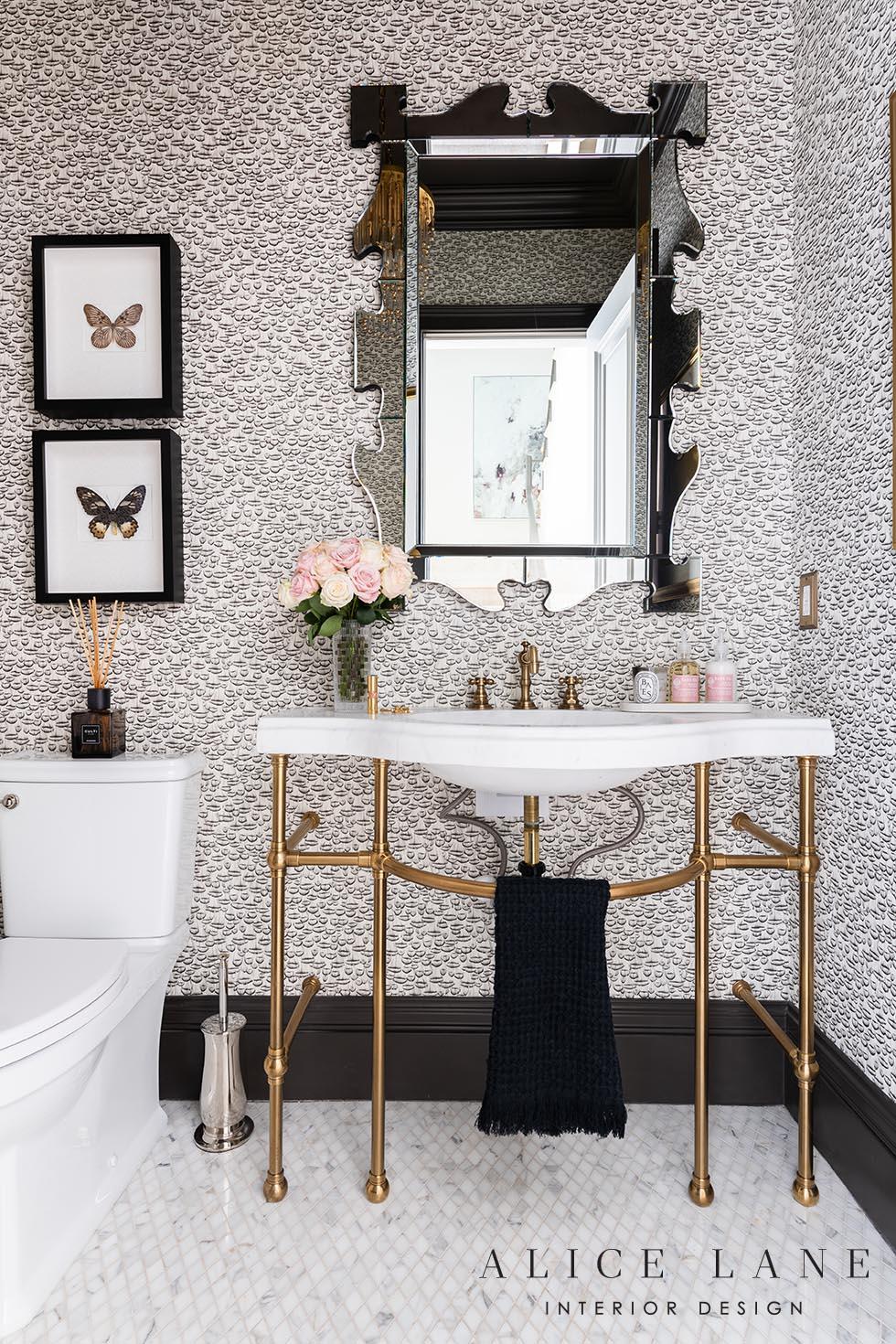 Rachel Parcell's Powder Bath | Alice Lane Interior Design | Photo by Rebekah Westover