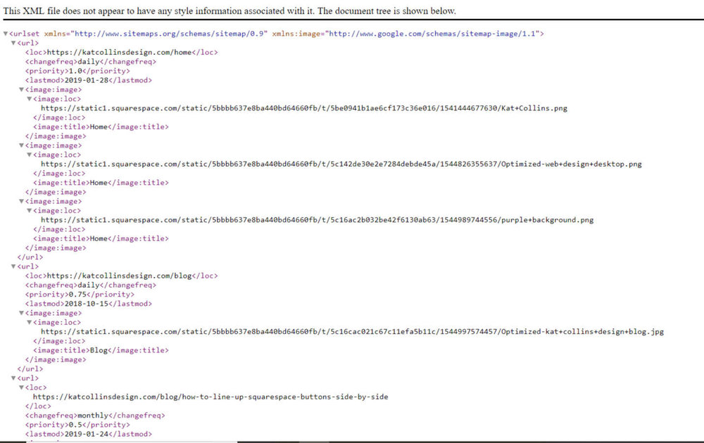 Kat Collins Design website XML sitemap