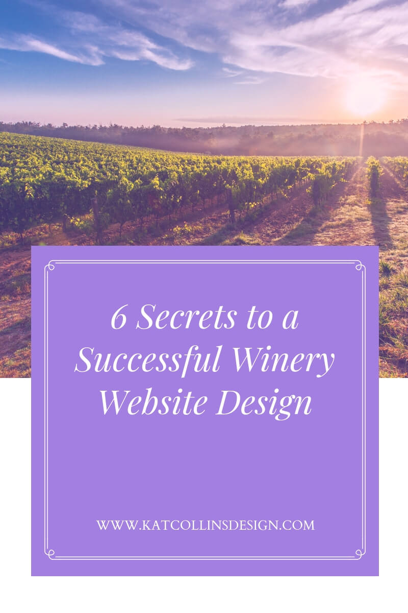 6 Secrets and tips to a successful winery website design.
