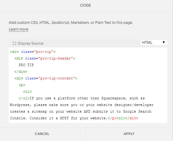 Pro Tip HTML How to customize text boxes in Squarespace