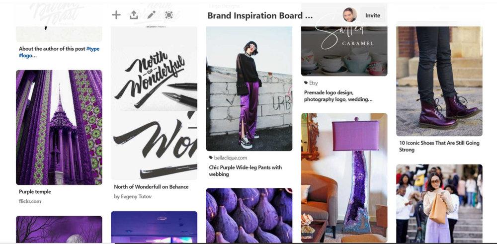 Mood Board Pinterest board example