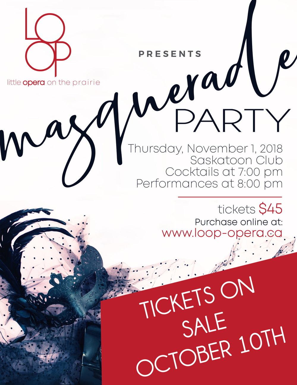 Masquerade Party - LOOP - Saskatoon Club