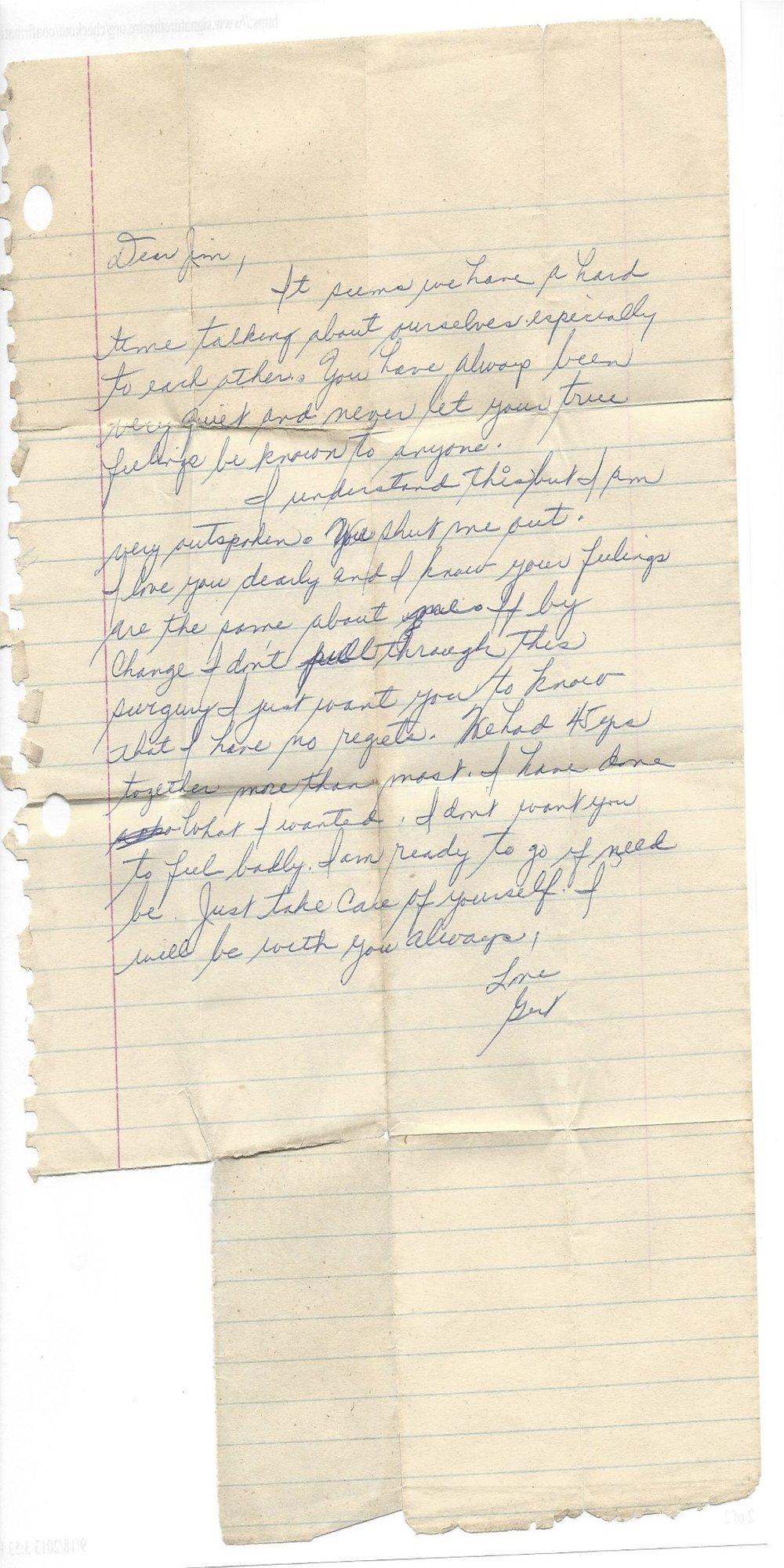 Archived Memories: Dear Jim