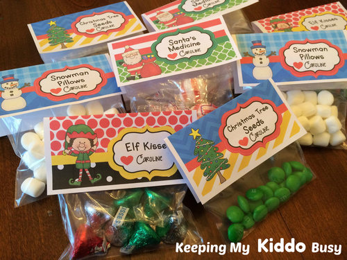 Christmas Favor Toppers Keeping My Kiddo Busy