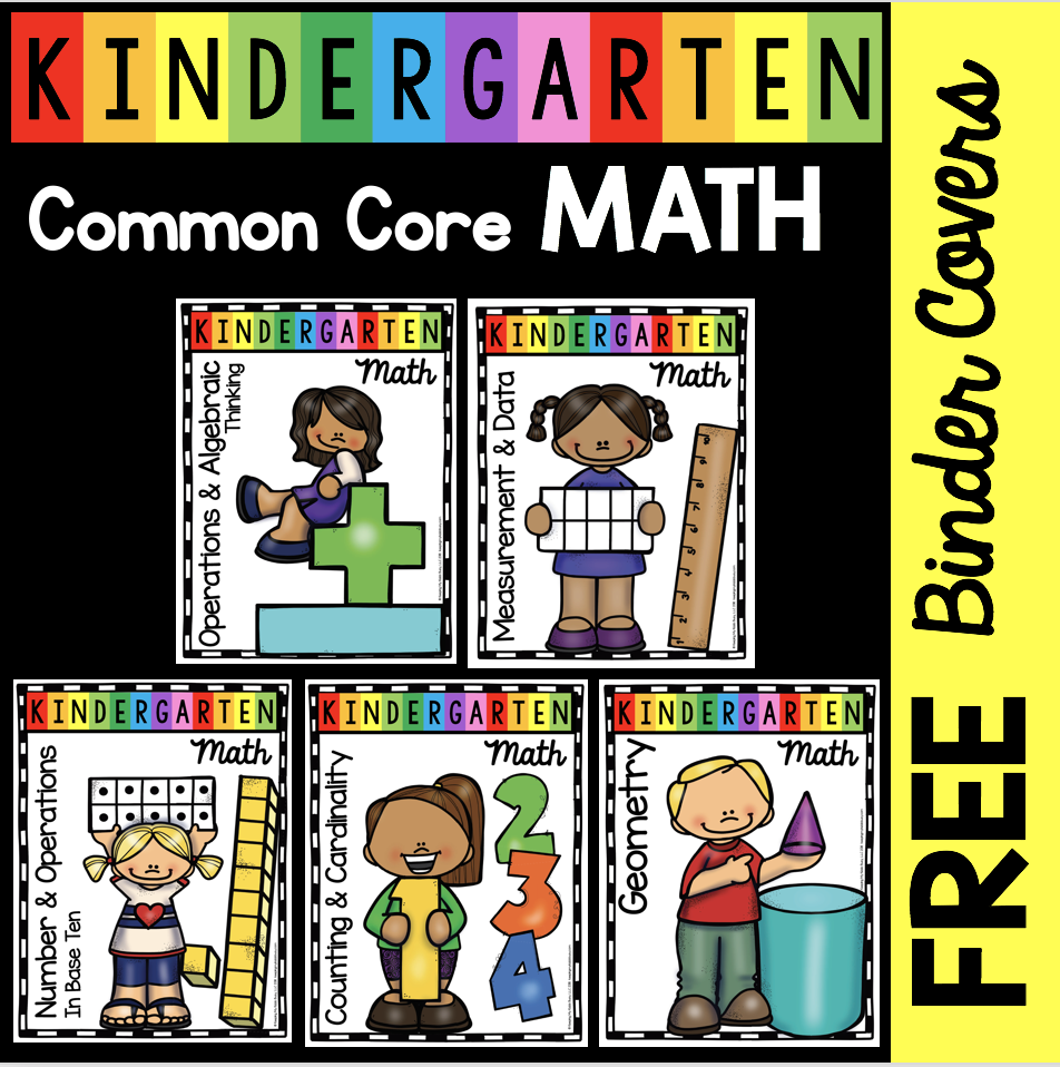 FREE Math Posters - Kindergarten Common Core Domains