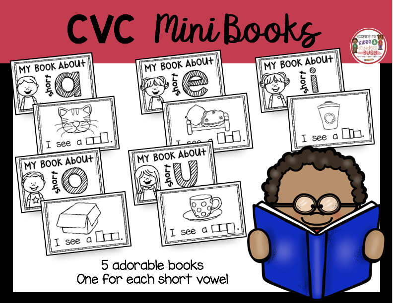 short vowel CVC books for literacy centers