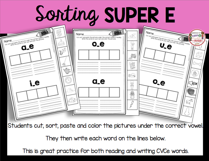 sorting cut and paste long vowels