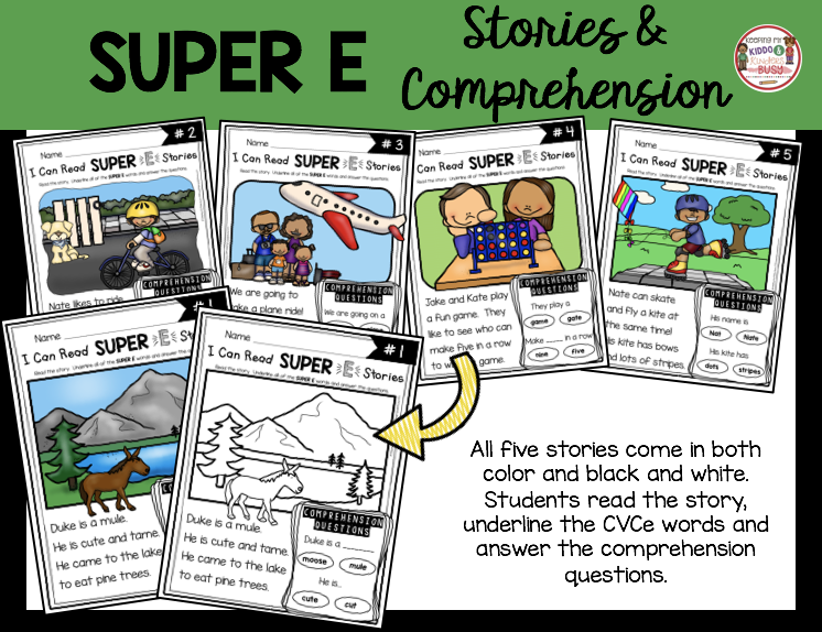 long vowel reading fluency comprehension first grade