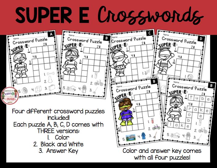 long vowel crosswords