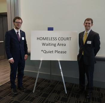 Maxwell Boltinghouse and Mattson Smith at Outreach Court in Denver, Colorado.