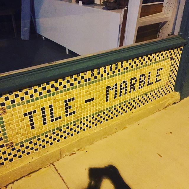 Text tiles! WF Gerhardt Tile Marble and @awlsnap. #rvafonts #richmondfonts #tile #font #fascade #richmond #rva
