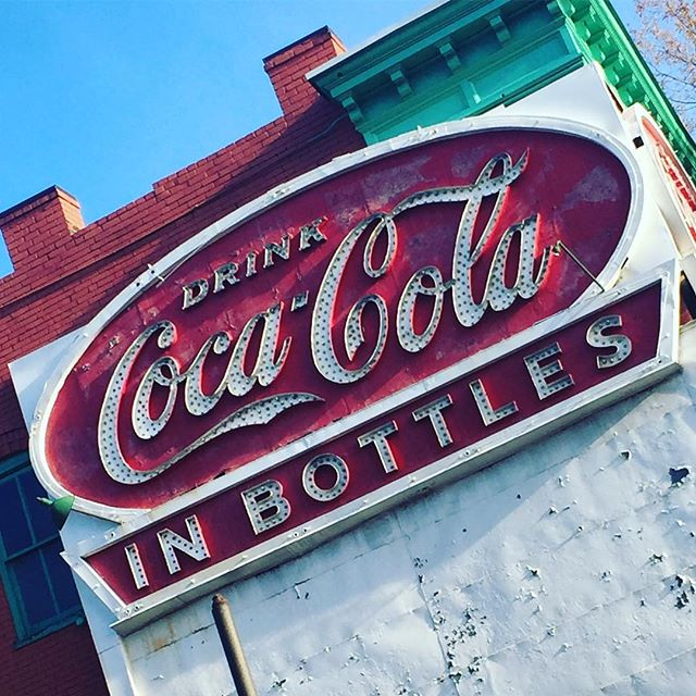 Drink Coca~Cola in Bottles Broad St #rva #richmondfonts #rvafonts
