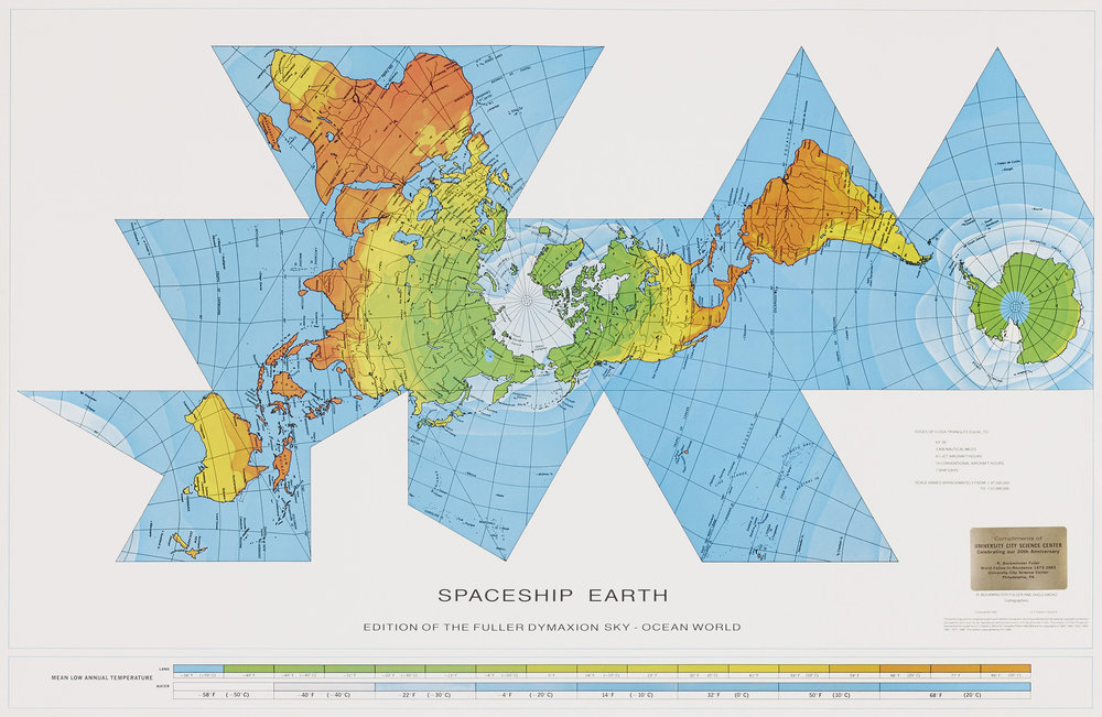 You don't know it yet, but this map is going to help save the world.  The Dymaxion Map removes global distortions .