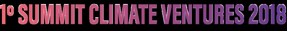 1º Summit Climate Ventures 2018