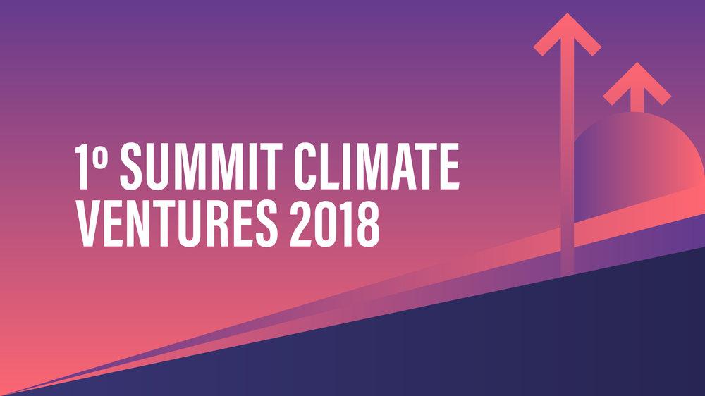 - O 1º Summit Climate Ventures reunirá no dia 22 de novembro de 2018, em São Paulo, diversos atores do ecossistema de negócios de impacto e de baixo carbono, que estão buscando novos caminhos e formas de fazer negócios para impulsionar uma economia regenerativa no Brasil. Neste dia estarão reunidos aproximadamente 200 pessoas, entre elas empreendedores, pesquisadores, empresários, investidores, startups e representantes de projetos e movimentos sociais.Será um encontro para celebrarmos os resultados do 1° Ciclo da Climate Ventures, apresentar os resultados do Lab de Inovação, as 10 startups vencedoras da 1° Chamada de Bons Negócios Pelo Clima no Brasil, além de pensarmos e articularmos alianças, parcerias e os próximos passos para agenda 2019 do Empreendedorismo Climático no Brasil.