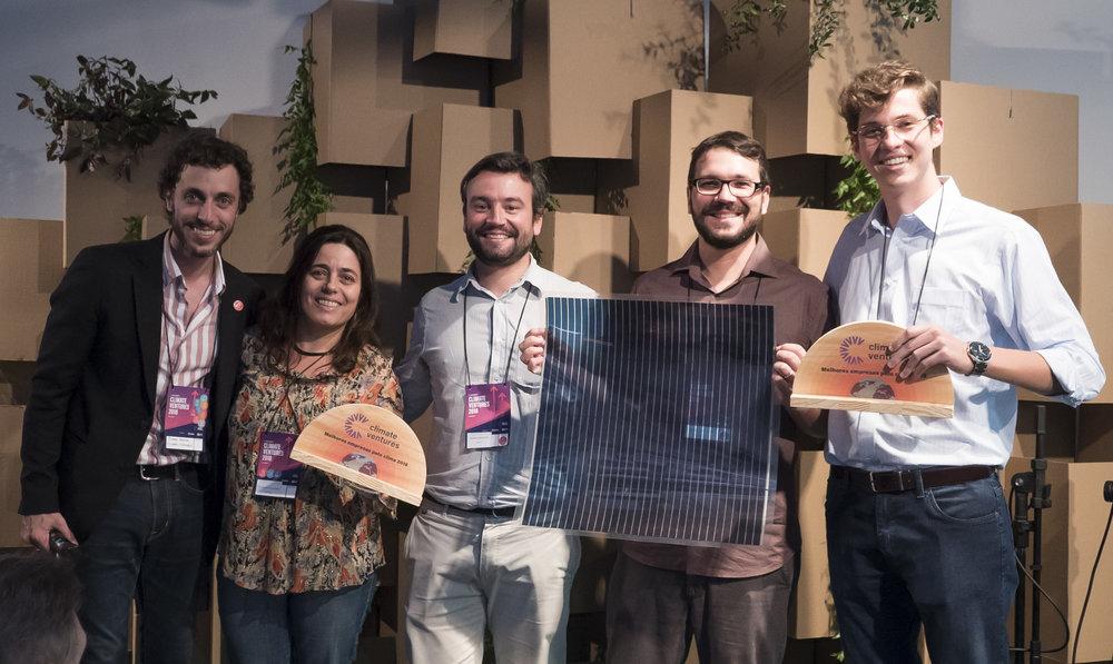 Ricardo Gravina from Climate Ventures, Ana Patrícia Cota from Origens Brasil, André Menezes from Baanko, Daniel Contrucci from Climate Ventures and Thiago Mattar from Sunew.