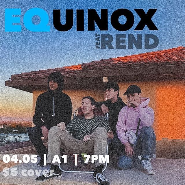 REND will be performing at our upcoming  event, EQUINOX!! Come out and support at 7pm in A1, April 5! (swipe for a message from REND)