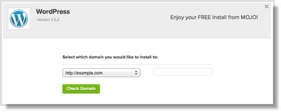 Choose WordPress domain