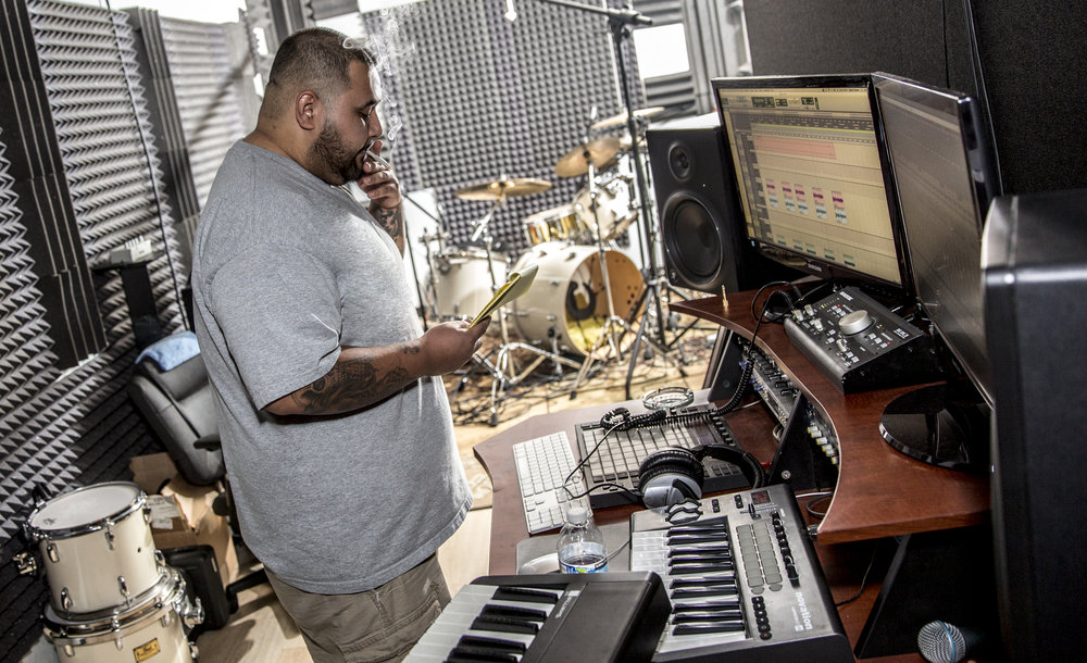 "Angel P(Label Director, Producer, Artist and Engineer) - Angel Pleitez, producer and owner at Angel Play Records. The mogul grew up with hip-hop and rap, but in the 30 summers he has lived on this Earth, all sorts of music have influenced him. His record label is focused on a different type of vibe that fusions old school and new school flawlessly like the yin yang. Angel's ultimate goal is ""to make music so I can help heal the world with sounds."" Organic Neo, a new genre on the making, under his belt, brings together a creative group of producers and engineers that make the magic happen at the studio every night."