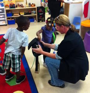 Jennifer Foster, doing what she does best:   inspiring kids!