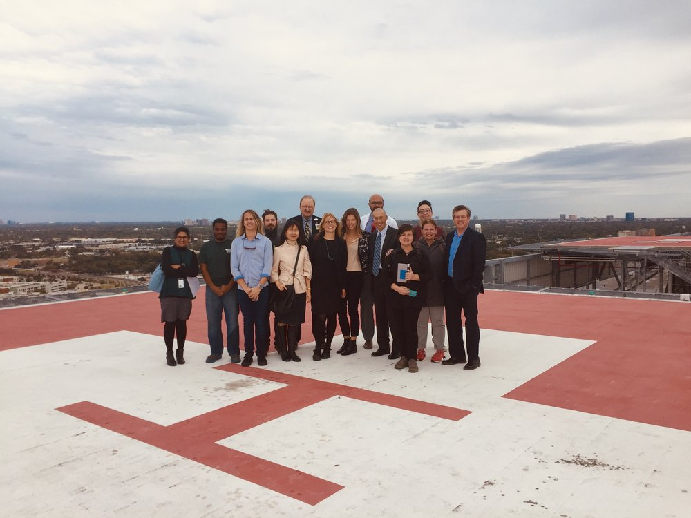 Tour of Parkland Hospital, Dallas with IWKS Capstone students