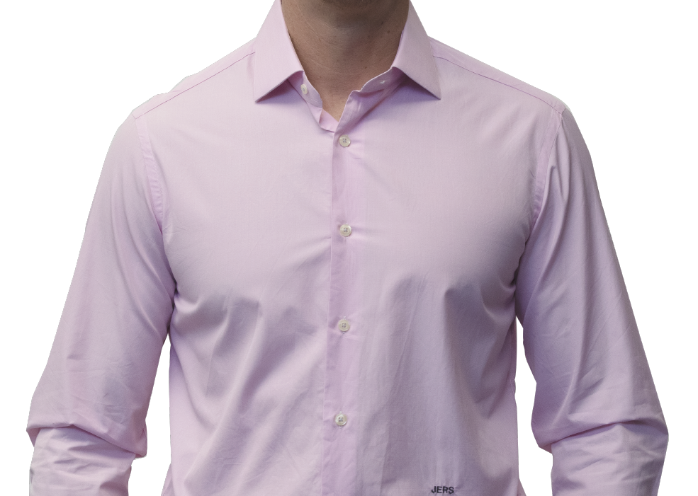 Pink end on end shirt 160s cotton