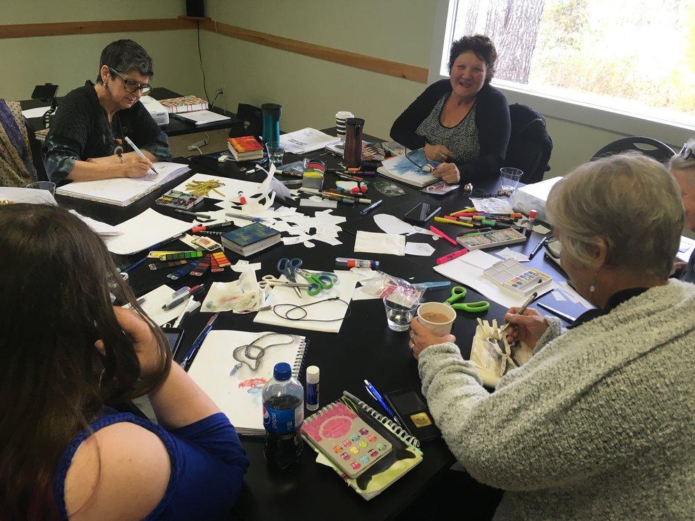 Amazing art journalling workshop that I attended.