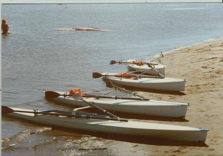 1985 - The first OWR shells - heavy and slow, but stable - at Schoonmaker beach