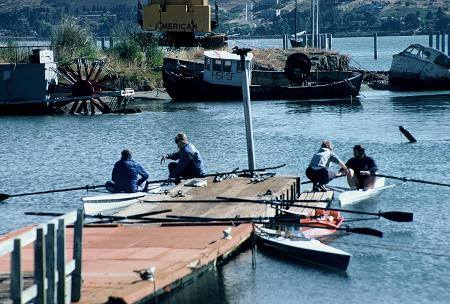 1986 - Temporary docks - borrowed from elsewhere along the Sausalito waterfront…