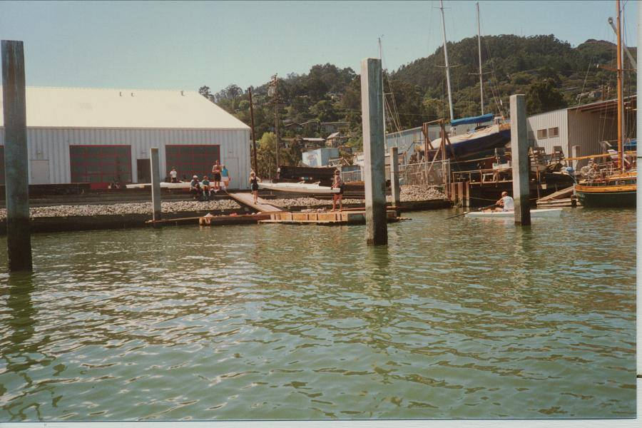 Summer 1987 - Moving day - back to Schoonmaker in the midst of marina construction.
