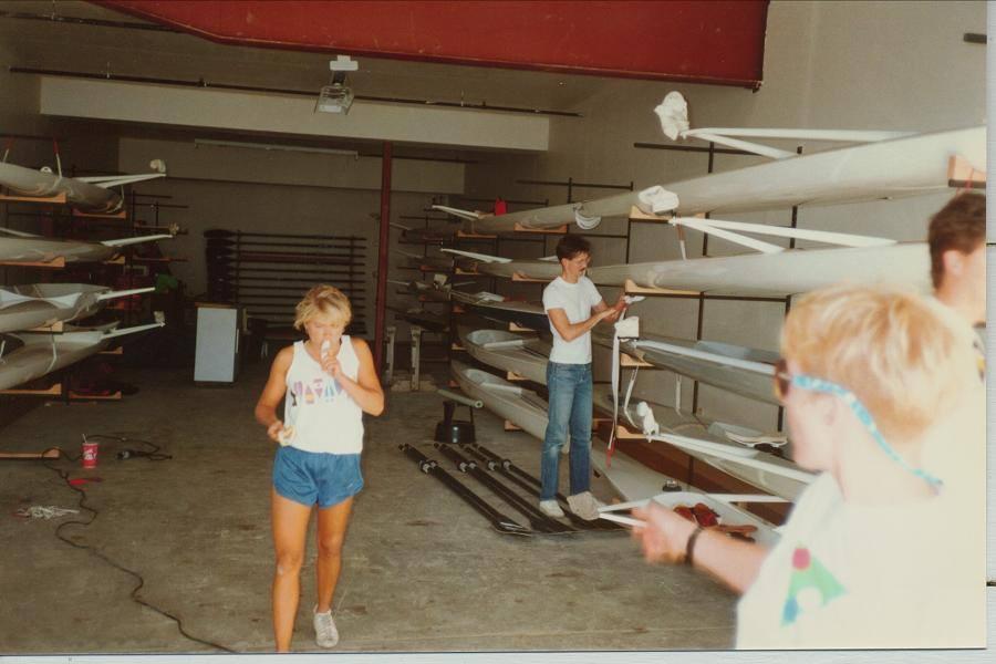 Summer 1987 - Boathouse finishing details!