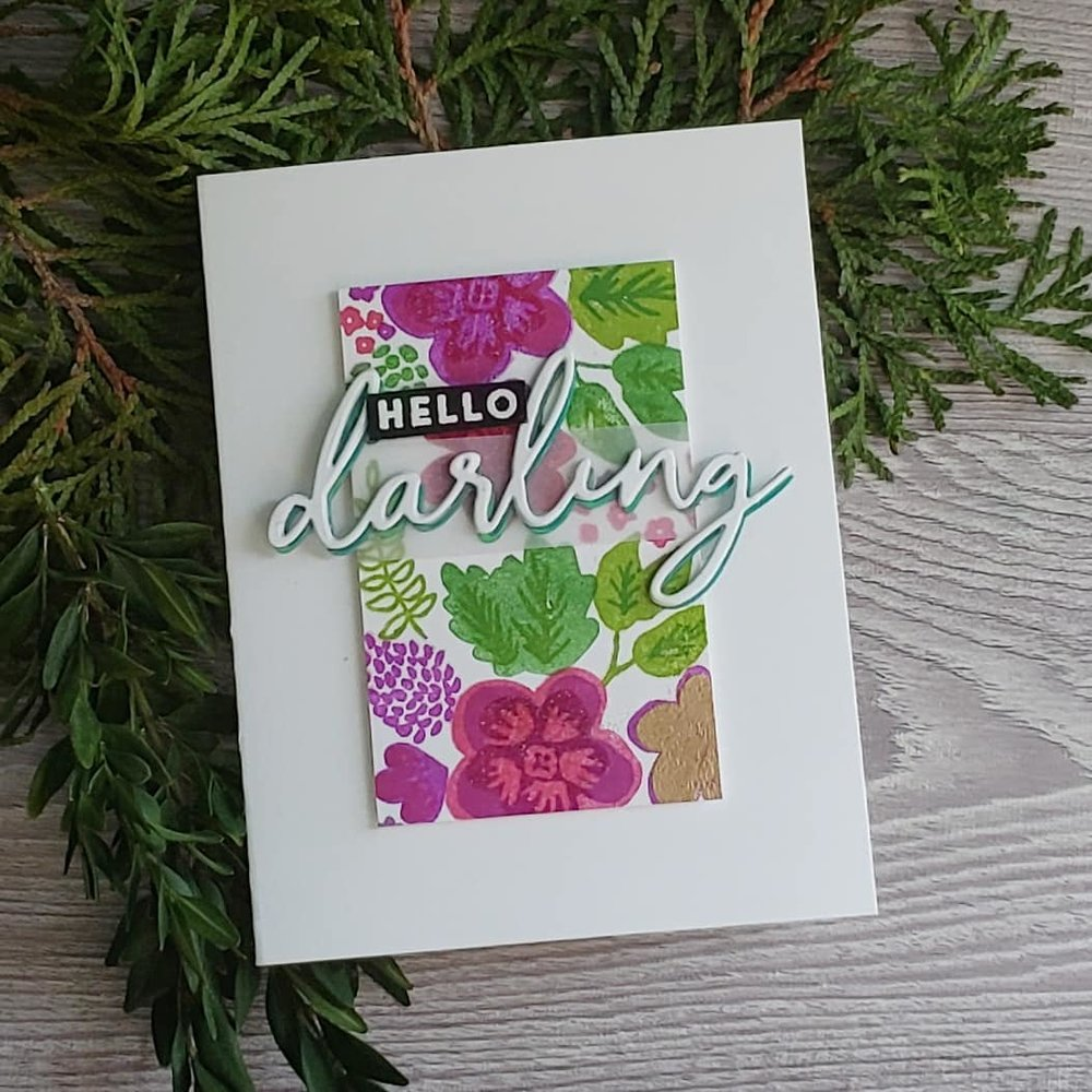 Darling Petals Turnabout Bundle and Brutus Monroe Embossing Powders and Vellum by Daniel West