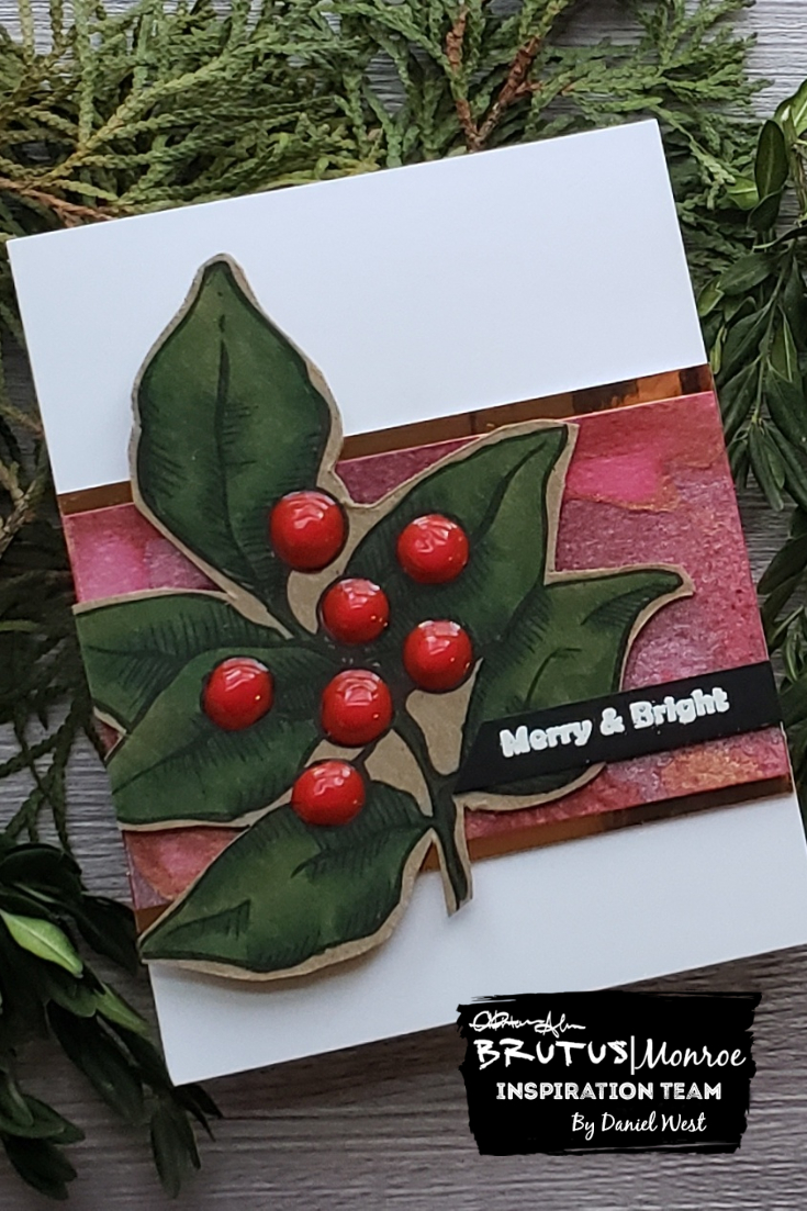 Brutus Monroe Christmas Card by Daniel West