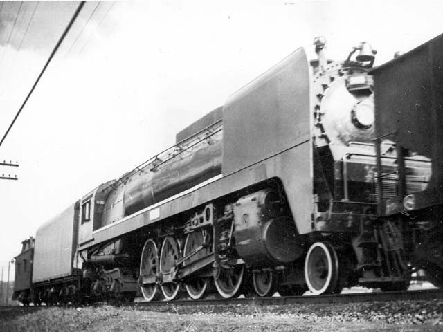 D&H 306 TYPE:  4-8-4  CLASS:  K  DATE:  1947  LOCATION:  Schenectady, NY  NOTES:  Pushing southbound freight. Built by Alco-Schenectady in 1943, Sold to Luria in August, 1953.  PHOTOGRAPHER:  Jim Wright
