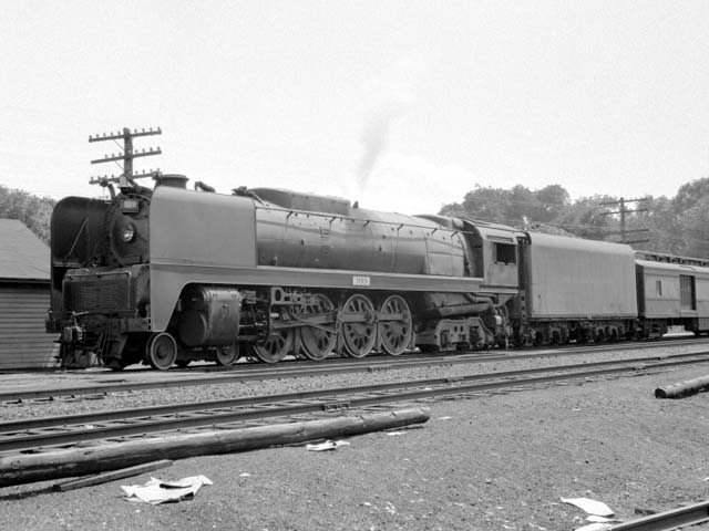 D&H 309 TYPE:  4-8-4  CLASS:  K  DATE:  6/1/47  LOCATION:  Fort Edward, NY  NOTES:  On northbound Laurentian. Built by Alco-Schenectady in 1943, Sold to Luria in October, 1952.  PHOTOGRAPHER:  Jim Wright